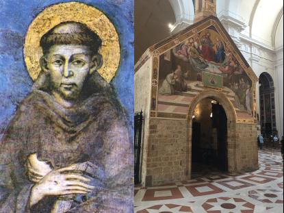 Der heilige Franz von Assisi, 1181 geboren